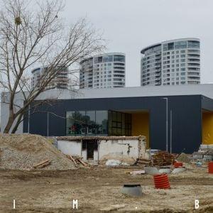 Rozostavaná hala za Domom športu, 1.3.2020