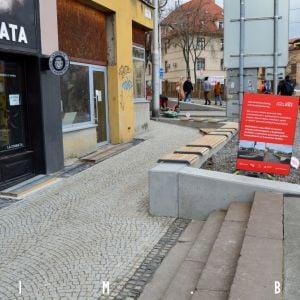 Už takmer dokončená časť ulice
