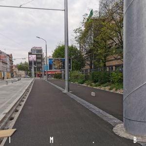 Nová cyklotrasa na ulici Mlynské nivy