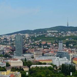 Národná banka Slovenska s okolitou zástavbou