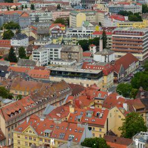 Hustá mestská štruktúra v okolí Dunajskej ulice