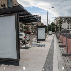 Nové zastávky od Šagátovej. Fotografia zo 17.6.2020. Autor: Martin Srnák