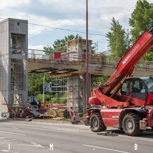 Výstavba výťahov na zastávke Botanická záhrada