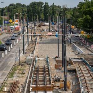 Výstavba trate na Karloveskej