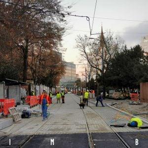 Rekonštrukcia električkovej trate na Americkom námestí ide do finále
