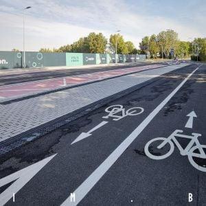 Developer vybudoval pred výstavbou projektu novú cyklotrasu