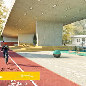 Skatepark pod Mostom SNP. Zdroj: Bratislava - Hlavné mesto SR