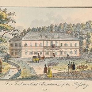 Pôvodné Ferdinandove kúpele. Zdroj: Galéria mesta Bratislavy