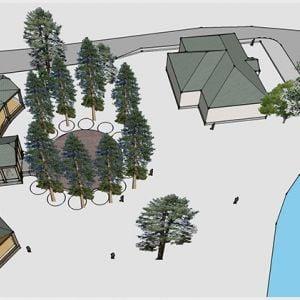 Projekt obnovy kúpeľov a Labutieho pavilónu. Zdroj: Orava - Stav s.r.o.