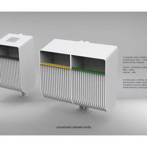 Nové koše umožnia separáciu odpadu. Zdroj: 2021+LABAK