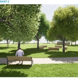 Park J.M. Hurbana. Zdroj: Mestská časť Rača
