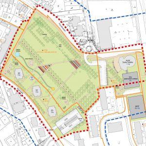 Komplexný urbanistický návrh, variant 2. Zdroj: Mestská časť Bratislava - Dúbravka