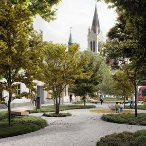 Parčík na Radlinského. Zdroj: Metropolitný inštitút Bratislavy