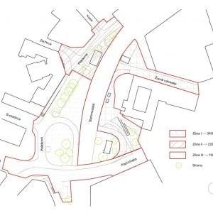Riešené zóny v okolí Zohovej. Zdroj: Metropolitný inštitút Bratislavy