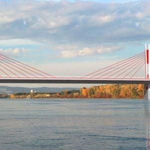 Pôvodný návrh šiesteho mostu cez Dunaj. Zdroj: Národná diaľničná spoločnosť