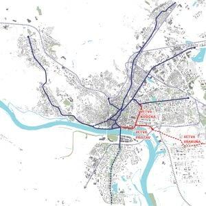 Potenciál rozšírenia predstavuje najmä trať do Podunajských Biskupíc či Vrakune. Zdroj: J&T Real Estate