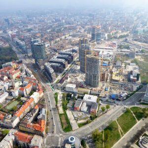 Zľava Twin City, SkyPark, Panorama Towers. Zdroj: Branislav Kaliský