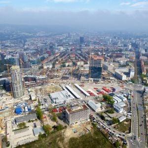 Stanica Nivy, južne od nej pribudnú ďalšie kancelárske komplexy od HB Reavis. Zdroj: Branislav Kaliský