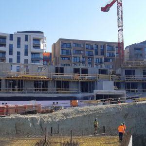 Výstavba v marci 2020. Zdroj: ITB Development
