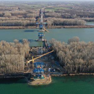 D4 v úseku Jarovce - Ivanka-sever. Nový most cez Dunaj. Zdroj: Združenie Obchvat Nula