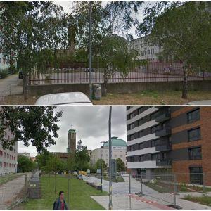 Stein2 - námestie pred kostolom. Zdroj: Google StreetView