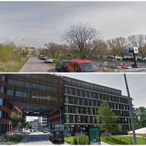Žižkova ulica a projekt Zuckermandel. Zdroj: Google StreetView