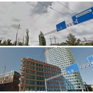 Administratívne komplexy Twin City a Twin City Tower vznikli na voľnej ploche, pozostatku po niekdajšom priemyselnom areáli Kablo.
