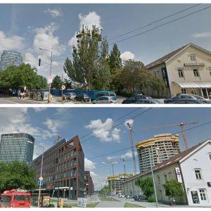 Jedna z najradikálnejších zmien - okolie Továrenskej ulice s projektami Twin City a Twin City Tower od HB Reavis a Sky Park od Penta Real Estate.