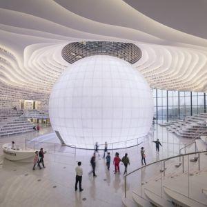 Knižnica Binhai v Tianjine. Zdroj: ArchDaily